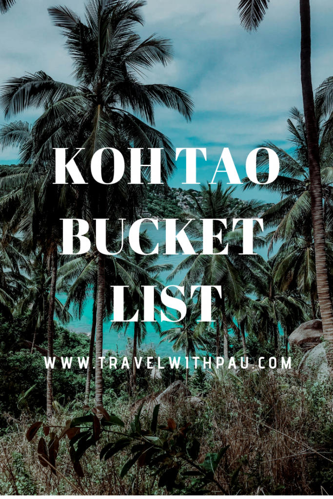 koh tao bucket list